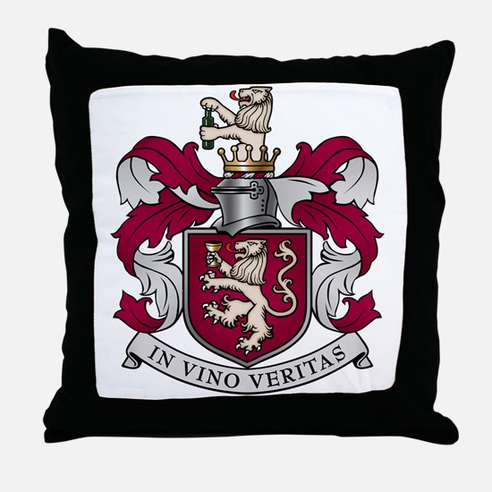 In Vino Veritas Throw Pillow