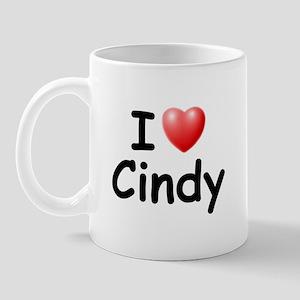 I Love Cindy (Black) Mug