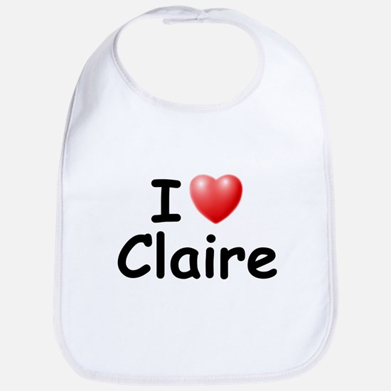 I Love Claire (Black) Bib