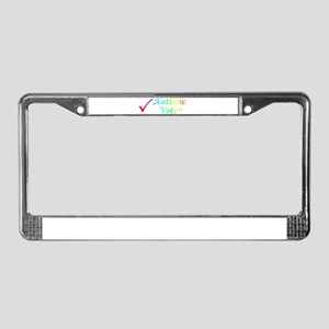 Autistic Voter License Plate Frame