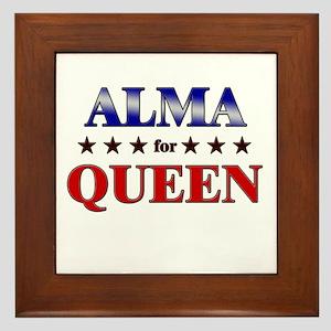 ALMA for queen Framed Tile