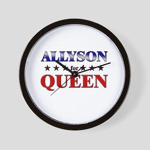 ALLYSON for queen Wall Clock