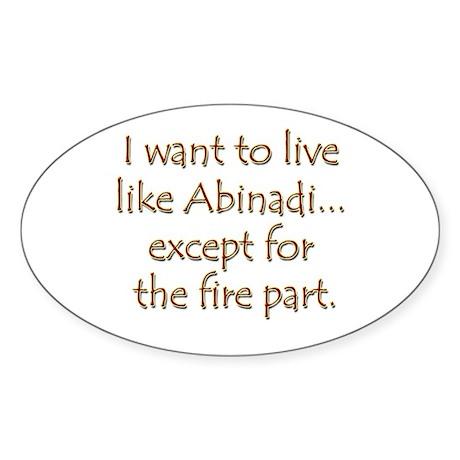 LDS Website- Abinadi Oval Sticker