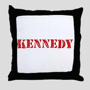 Kennedy Retro Stencil Design Throw Pillow
