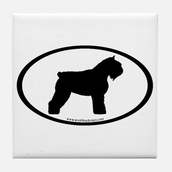 Bouvier Oval Tile Coaster