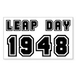 LEAP DAY 1948 Sticker (Rectangle)