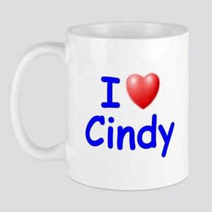 I Love Cindy (Blue) Mug