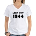 LEAP DAY 1944 Women's V-Neck T-Shirt