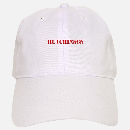 Hutchinson Retro Stencil Design Baseball Baseball Cap