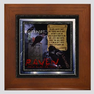 Edgar Allan Poe's The Raven - Framed Tile