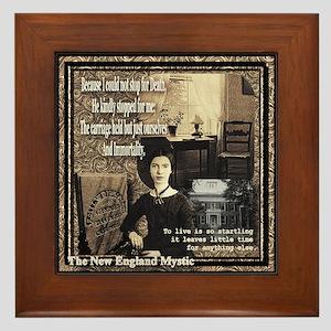 Emily Dickinson - Framed Tile
