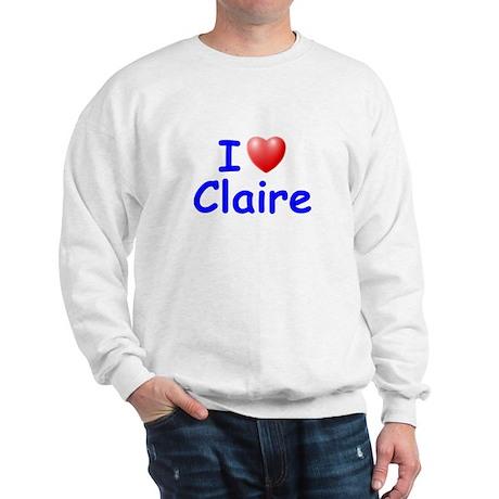 I Love Claire (Blue) Sweatshirt