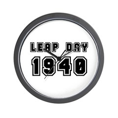 LEAP DAY 1940 Wall Clock
