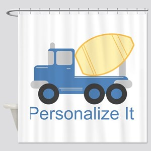 PERSONALIZED Cute Cement Truck Shower Curtain