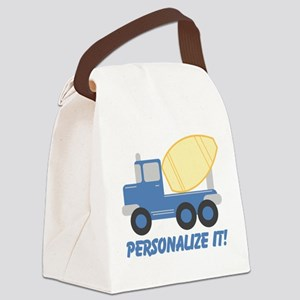 PERSONALIZED Cute Cement Truck Canvas Lunch Bag
