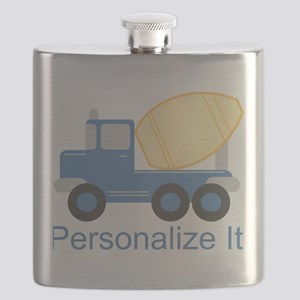 PERSONALIZED Cute Cement Truck Flask
