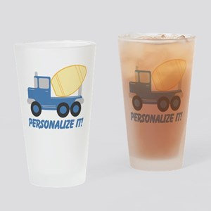 PERSONALIZED Cute Cement Truck Drinking Glass