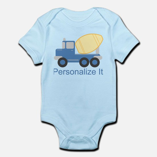 PERSONALIZED Cute Cement Truck Body Suit