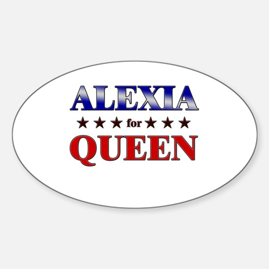 ALEXIA for queen Oval Decal