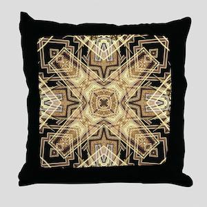 Art Deco Gold Black Glamour Throw Pillow