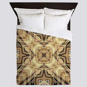 Art Deco Gold Black Glamour Queen Duvet