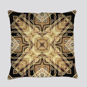 Art Deco Gold Black Glamour Everyday Pillow