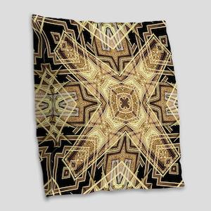 Art Deco Gold Black Glamour Burlap Throw Pillow