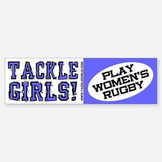 Play Women's Rugby Bumper Bumper Bumper Sticker