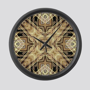 Art Deco Gold Black Glamour Large Wall Clock