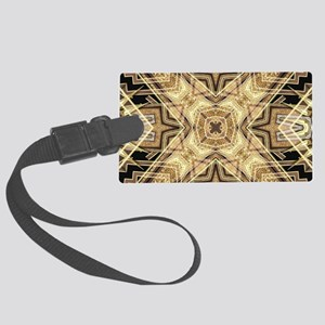 Art Deco Gold Black Glamour Large Luggage Tag