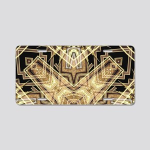Art Deco Gold Black Glamour Aluminum License Plate