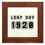 LEAP DAY 1920 Framed Tile