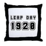 LEAP DAY 1920 Throw Pillow