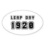 LEAP DAY 1920 Oval Sticker