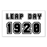 LEAP DAY 1920 Rectangle Sticker