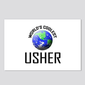 World's Coolest USHER Postcards (Package of 8)