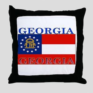 Georgia Georgian State Flag Throw Pillow