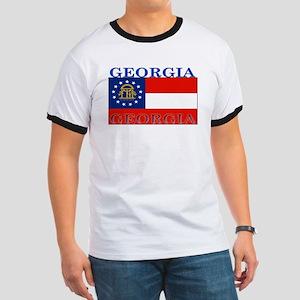 Georgia Georgian State Flag Ringer T