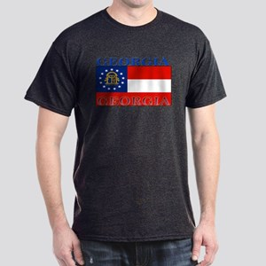 Georgia Georgian State Flag Dark T-Shirt