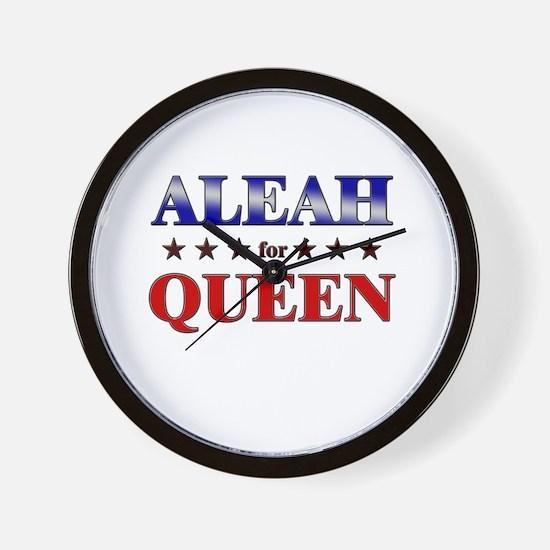 ALEAH for queen Wall Clock