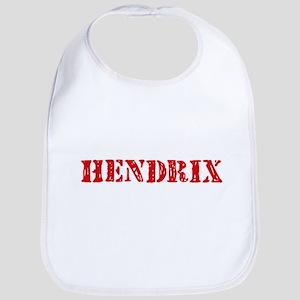 Hendrix Retro Stencil Design Baby Bib