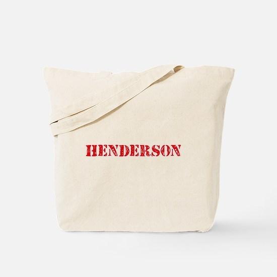 Henderson Retro Stencil Design Tote Bag