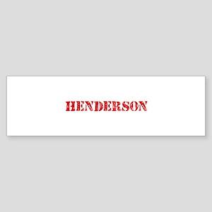 Henderson Retro Stencil Design Bumper Sticker