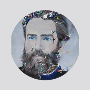 HERMAN MELVILLE Round Ornament