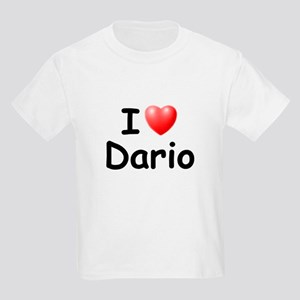 I Love Dario (Black) Kids Light T-Shirt