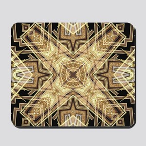 Art Deco Gold Black Glamour Mousepad
