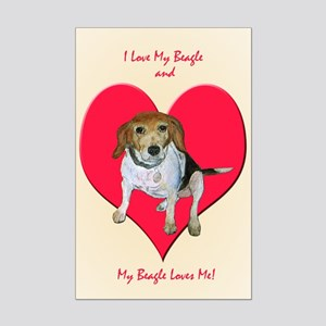 Daisy the Beagle Mini Poster Print