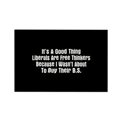 Liberal Free Thinkers Rectangle Magnet (10 pack)