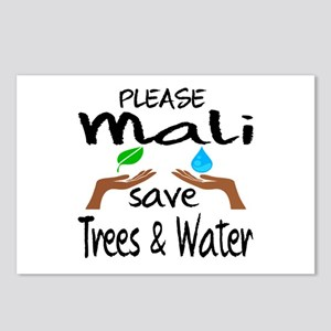 Please Mali Save Trees & Postcards (Package of 8)