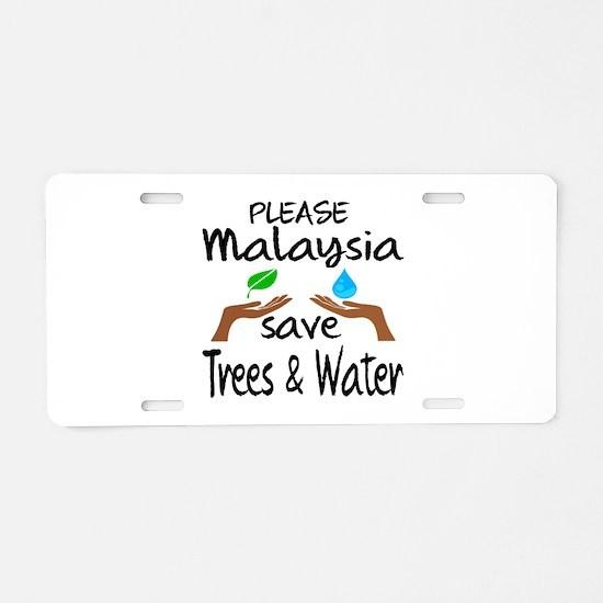 Please Malaysia Save Trees Aluminum License Plate